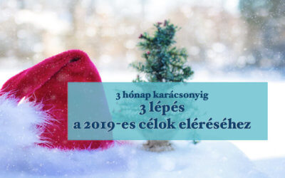 3 hónap karácsonyig, 3 lépés a 2019-es célok eléréséhez